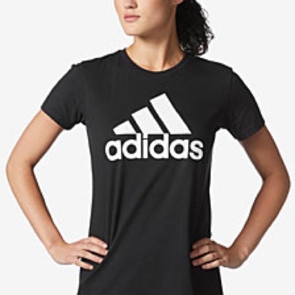 8df1acfd2d Adidas women's Black & White Logo Tee bu4768 b3 Boutique